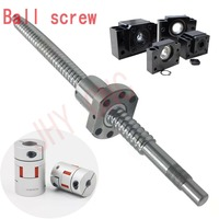 3 kits HIWIN JHY linear rail profile guideway +4 ballscrews ball screws SFU type+4set BK/BF12+4ballut Housing + 4coupler