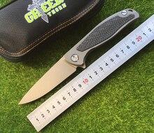 Green thorn F95 Flipper folding knife D2 blade TC4 Titanium Carbon fiber handle outdoor camp hunting pocket fruit knife EDC tool