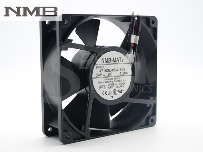 NMB 4715SL-05W-B60 12038 DC 24V IP55 1.20A waterproof axial cooling fan nmb 12cm 12038va 48r gl 12038 48v 0 90a 3wire 120mm waterproof ip55 cooling fan 4715vl 07w b69