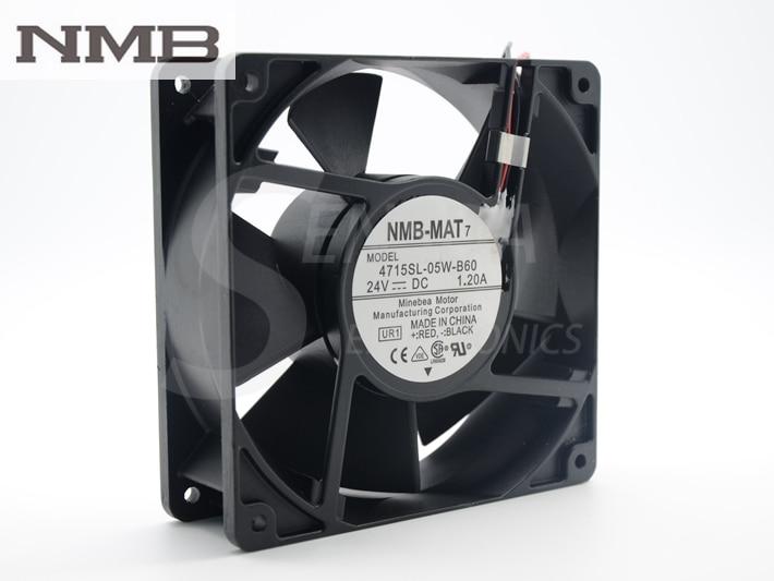 NMB 4715SL-05W-B60 12038 DC 24V IP55 1.20A waterproof axial cooling fan nmb 3610kl 05w b49 9225 24v 3 wire cooling fan blower