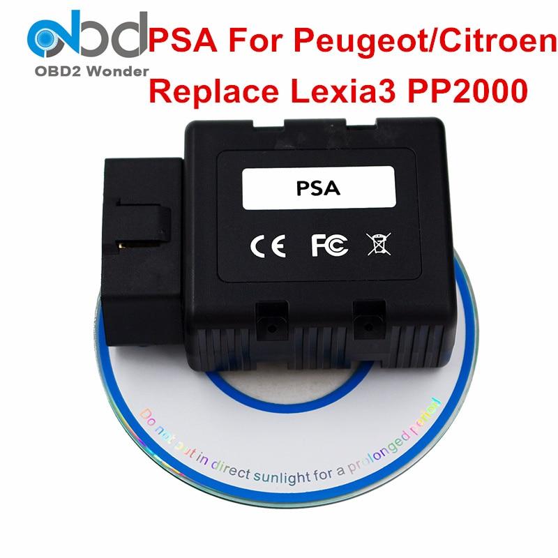 Цена за Новинка 2017 года Дизайн PSA для Peugeot для Citroen автомобиля диагностический инструмент PSA-COM Bluetooth Авто сканер заменить для Lexia3 Lexia 3 PP2000