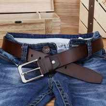 купить CATELLES Pin Buckle Belt Men's split cow Leather Belts Man Fashion Brand New Strap Luxury Brand High Quality Free Shipping 1935 по цене 841.51 рублей