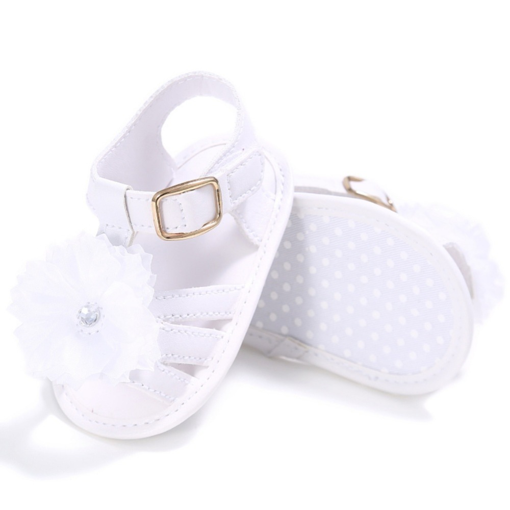 Summer Newborn Baby Girl Flower Shoes Toddler Infant Leather Prewalkers Children Girls Soft Crib Sole Breathable Shoes