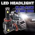 120 W 10000/5200LM Car Auto LED COB Faros H4/H13 Doble Hi/Lo Haz H7 H11/H8 9005 9006 Super Brillante Luz de Conducción Nocturna