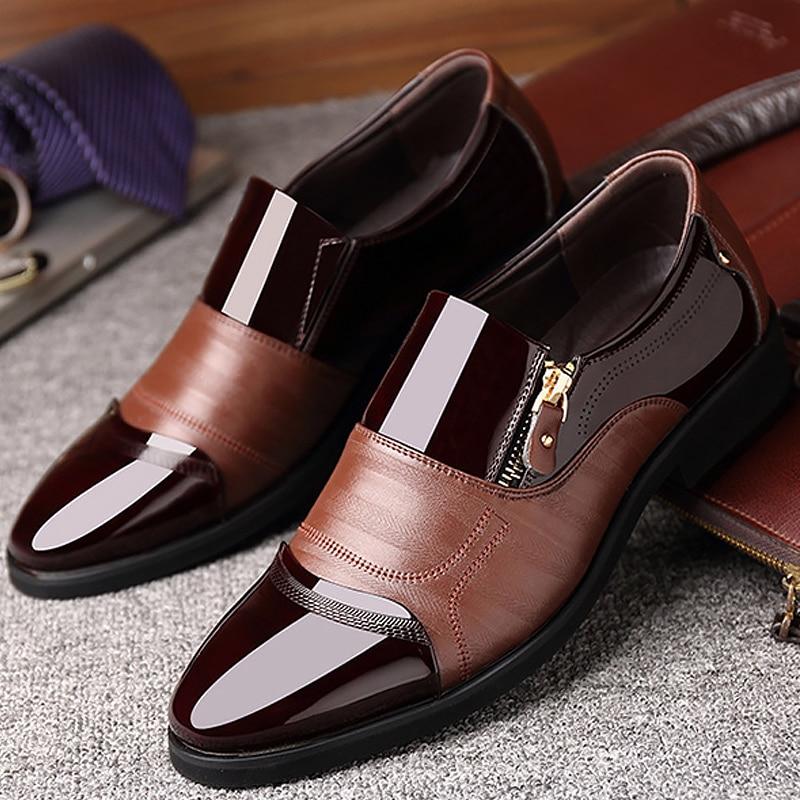 Hommes Formelle Chaussures Augmentation Printemps Mâle Mode 2 Casual En 2 brown Cuir À Black De L'usure Véritable automne black Zip brown Résistant 0rqgrE