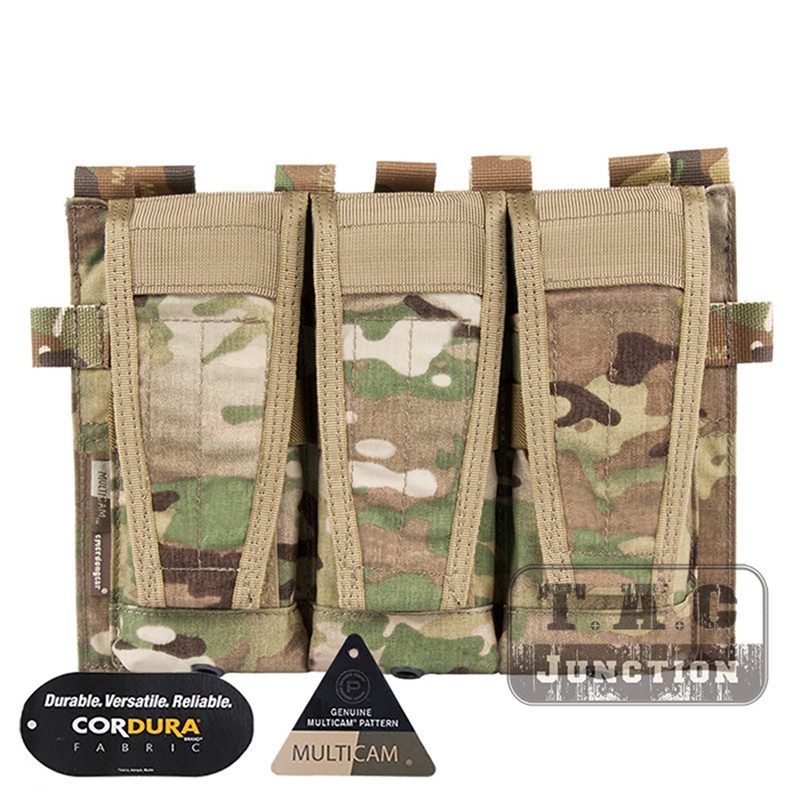 Emerson Tactical AVS Detachable Flap <font><b>M4</b></font> M16 AR15 5.56 .223 Triple <font><b>Magazine</b></font> Pouch Emersongear Ammo Bag Hook and Loop Mag Holder image