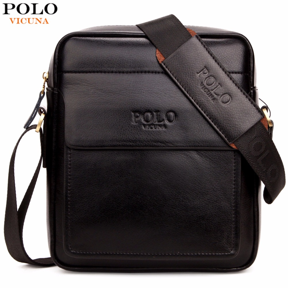 VICUNA POLO Famous Brand Square High Capacity Business Men Messenger Bags Italy Design Leather Man Bag sacoche homme sac a main