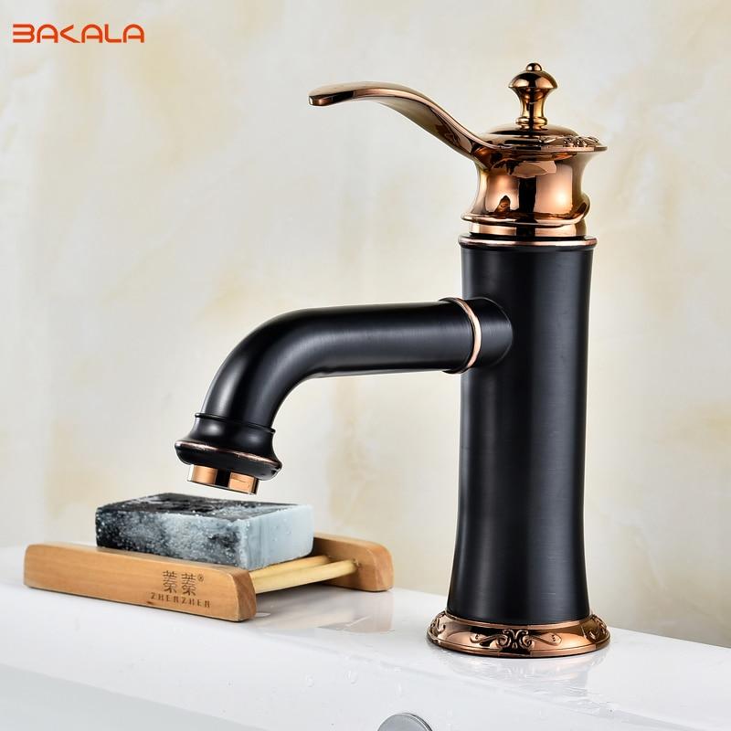 BAKALA BLACK Fashionable Tap Bathroom Mixer Single handle Single hole Surface Mounted Bathroom Sink Faucet BR-2017434BAKALA BLACK Fashionable Tap Bathroom Mixer Single handle Single hole Surface Mounted Bathroom Sink Faucet BR-2017434