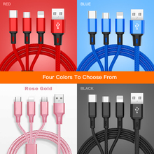 3 In 1 Micro USB Type C Multi Charger