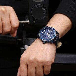 Image 3 - Novo naviforce esporte relógio de quartzo à prova dwaterproof água dos homens relógios marca superior luxo couro genuíno data semana relógio relogio masculino