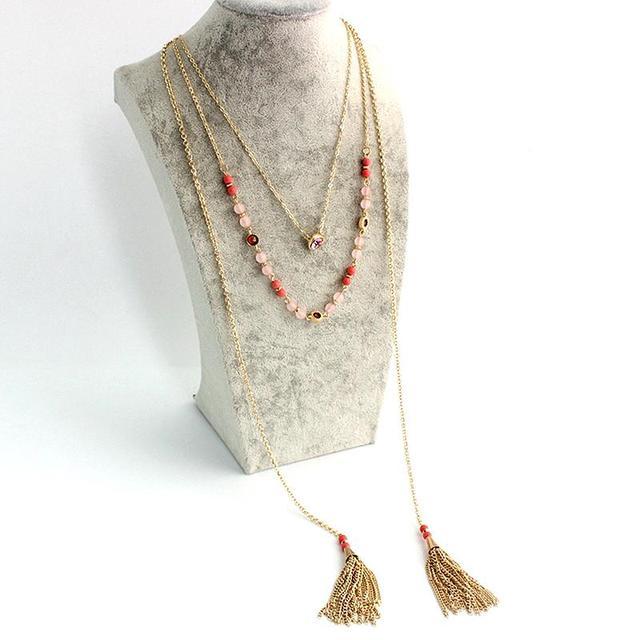 Chicvie ожерелья из натурального камня хрустальные бусы очаровательный