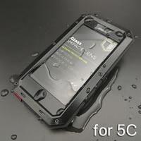 Luxury Waterproof Phone Case For IPhone 5C Coque 5C Dirt Proof Shockproof Aluminum Metal Cases Cover