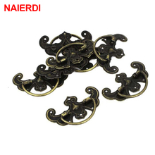 NAIERDI 5pcs Retro Bronze Tone Handles Drawer Cabinet Desk Door Jewelry Box Pulls Handle Wardrobe Knobs For Furniture Hardware