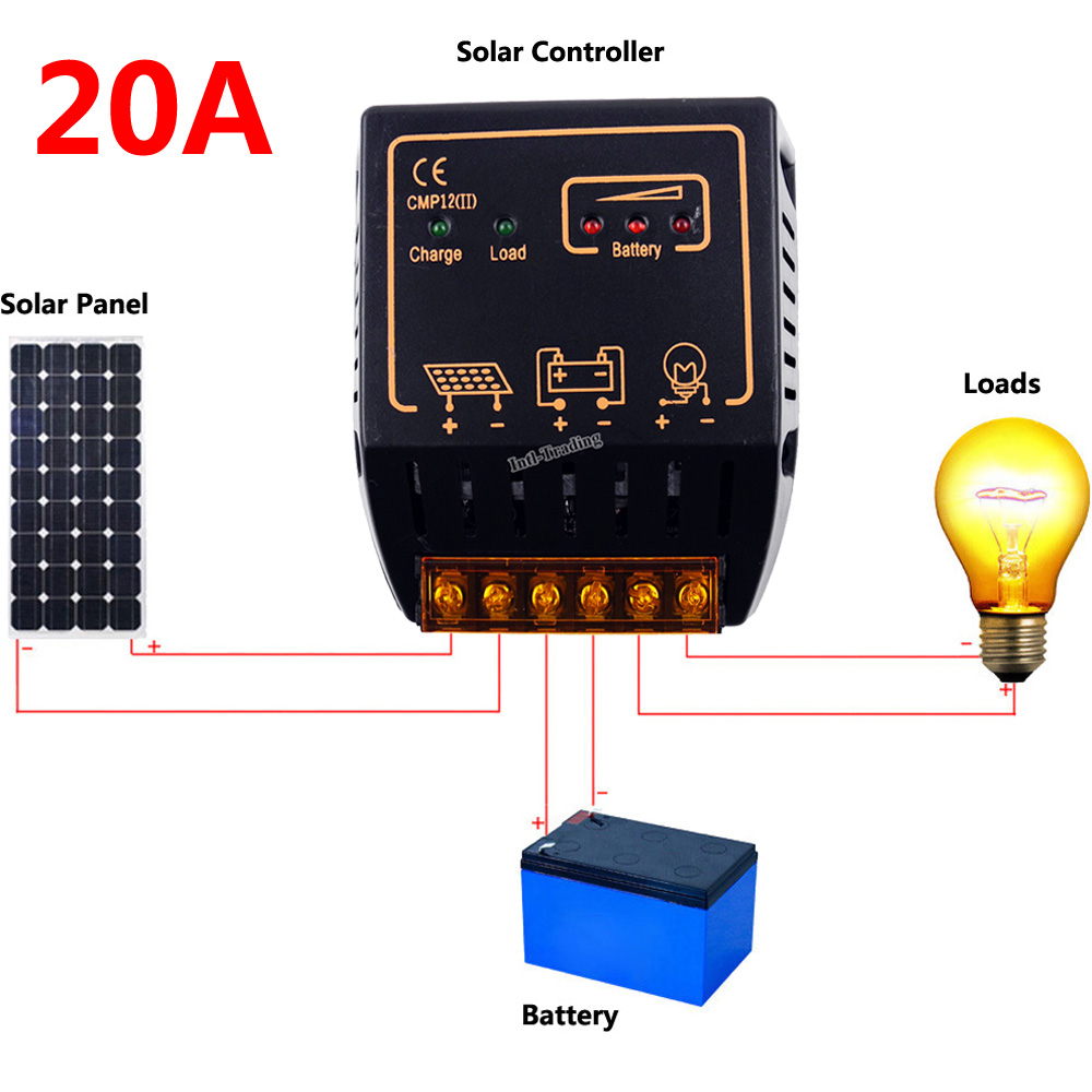 Pwm 20a Solar Charge Controller Battery Charging Regulator 12v 24v 10a 12v24v Automatic Art Of Circuits Auto Switch For 100w 200w 300w 400w 500w Panel System In Controllers From