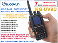 WOUXUN walkie talkie KG-UV9D VHF136-174MHz&UHF400-512MHz Dual Band Radio(Duplex Mode)TWIN BANDS TX,SEVEN BANDS RX