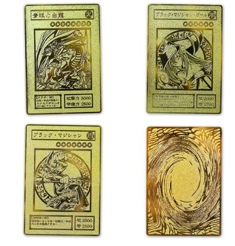 YU GI OH GOLD CARD Japanese Metal Card Local Eye Golden Dragon White VOL Collection Children's Edition Gift Toy