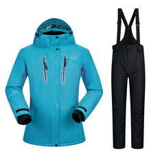 Women Ski Suits Brands High-Quality Waterproof Super Warm Winter Snow Jacket and Pants -30 Degree Skiing and Snowboarding Suits cheap MUTUSNOW COTTON Polyester Microfiber spandex ZYWXK04 Jackets Hooded Fits true to size take your normal size Anti-Pilling