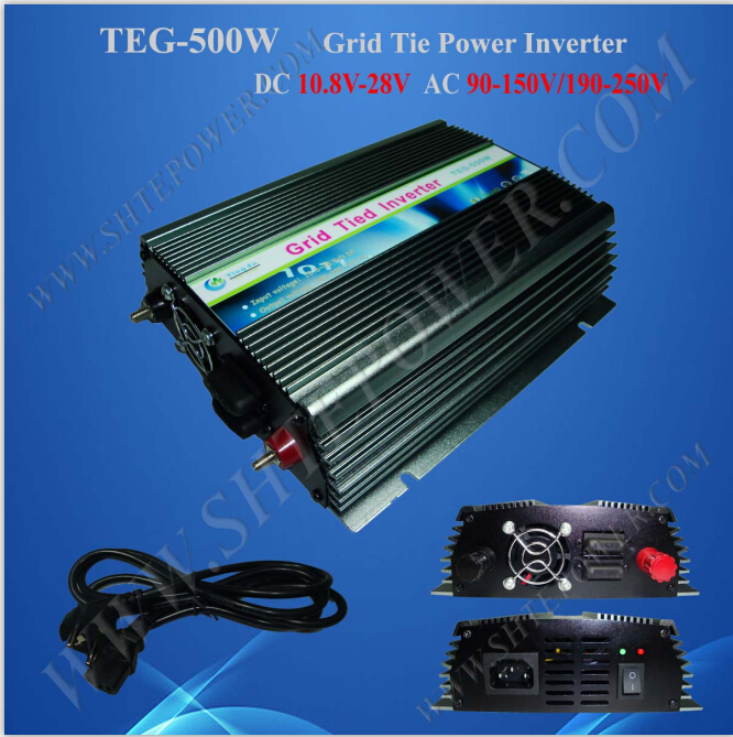 Solar grid tie 100v 500w pure sine wave inverter for household appliance maylar 500w solar grid tie pure sine wave inverter power supply 22 60vdc 180 260vac 50hz 60hz for 60cell and 70cell panels