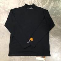 Best Quality Heron Preston Men Women Turtleneck Collar Embroidery T shirt Pullover Hiphop 1:1 Fashion Long Sleeve Cotton T shirt