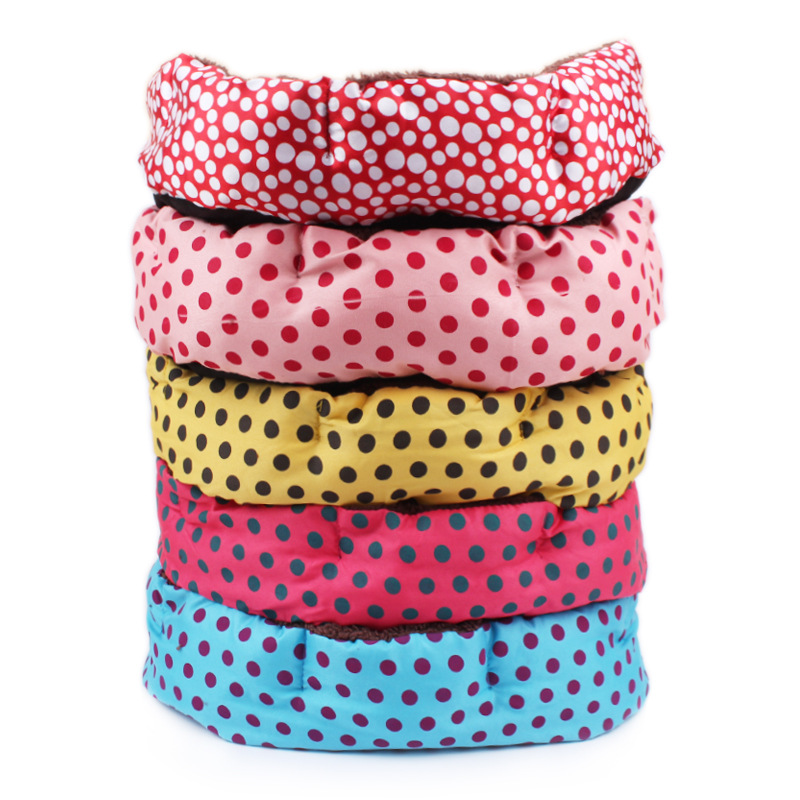 Round Dot Breathable Dog Beds Pet Cat Dog Bed/Mats Cotton Pet Dog Puppy Cat Soft Fleece Cozy