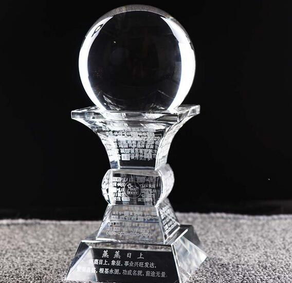 21-33cm  Crystal ball office Feng Shui home creative decoration