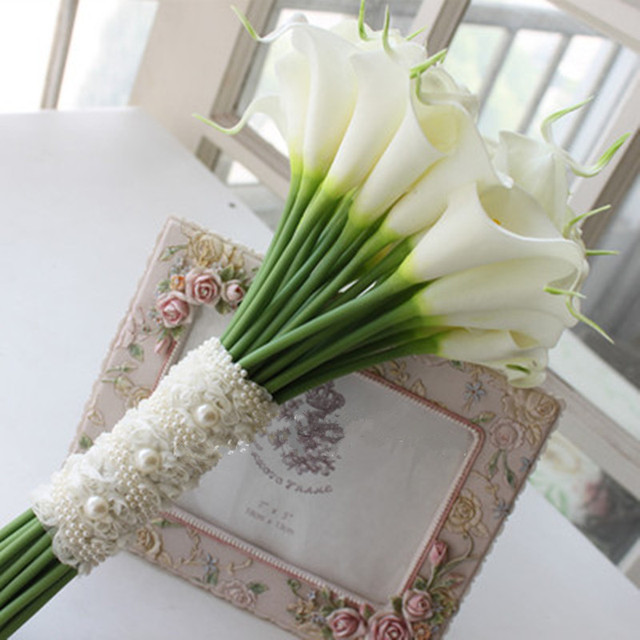 2016 Gorgeous Wedding Flowers Bridal Bouquets Elegant Pearl Bride Wedding Bouquet New Arrival