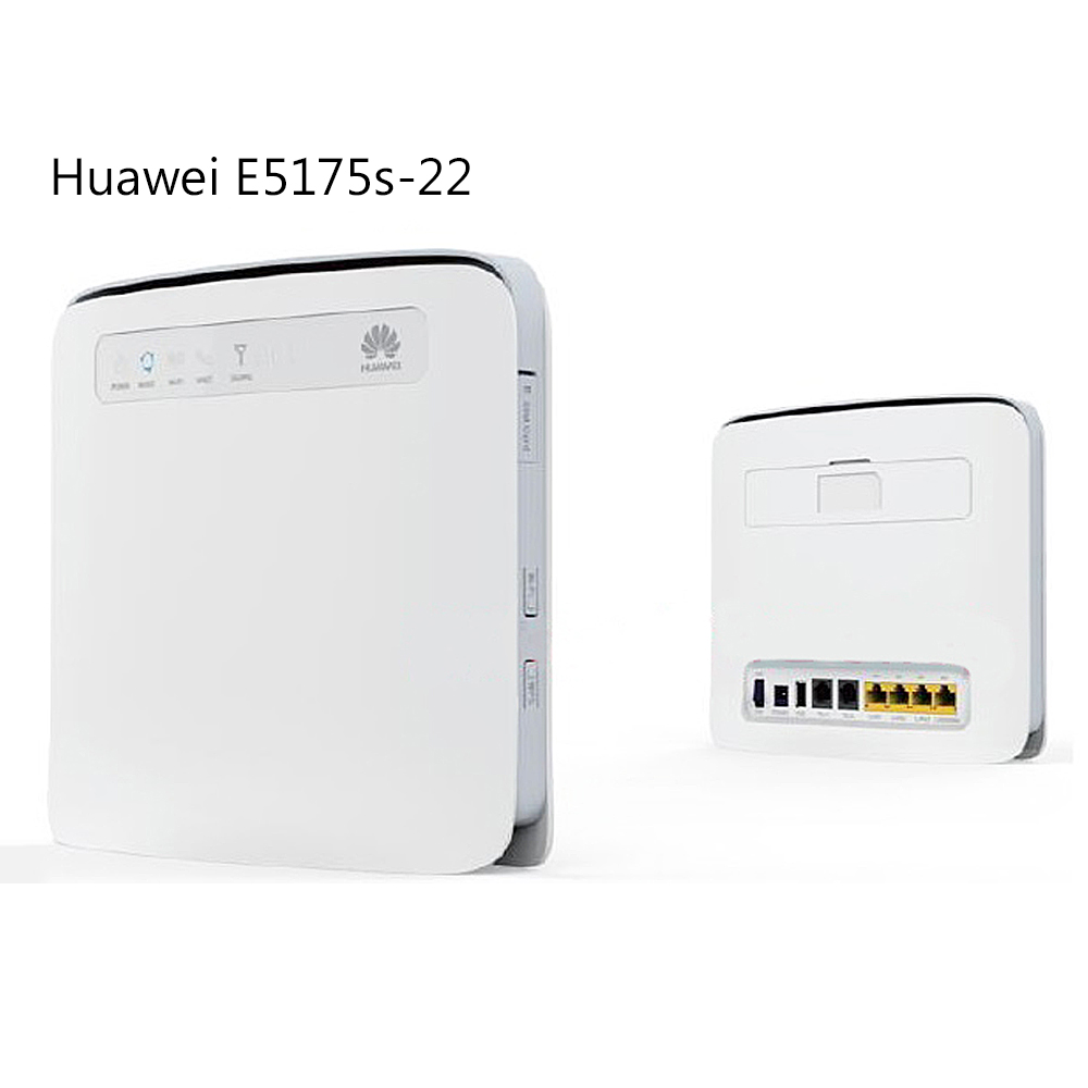 Unlocked Huawei E5175s-22 CPE Wifi Router LTE FDD 800/900/1800/2100/2600Mhz TDD2600Mhz Cat6 300Mbps Mobile 4G Gateway Router original unlocked huawei e3372 m150 2 lte fdd 150mbps 4g lte modem support lte fdd 800 900 1800 2100 4g crc9 49dbi dual antenna