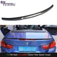 For BMW F33 Carbon Spoiler M4 Style 4 Series F33 & F83 M4 Carbon Fiber Rear Spoiler car Rear Bumper Trunk Wing Convertible 2014+
