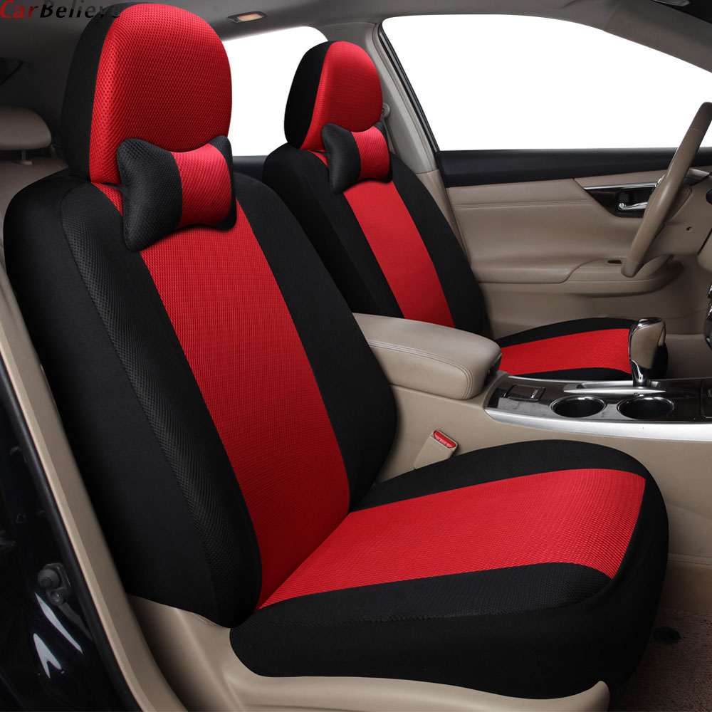 Car Believe 2 Pcs Car Seat Cover For Golf 4 5 6 VOLKSWAGEN Polo Sedan 6r 9n Passat B5 B6 B7 Accessories Covers For Vehicle Seats