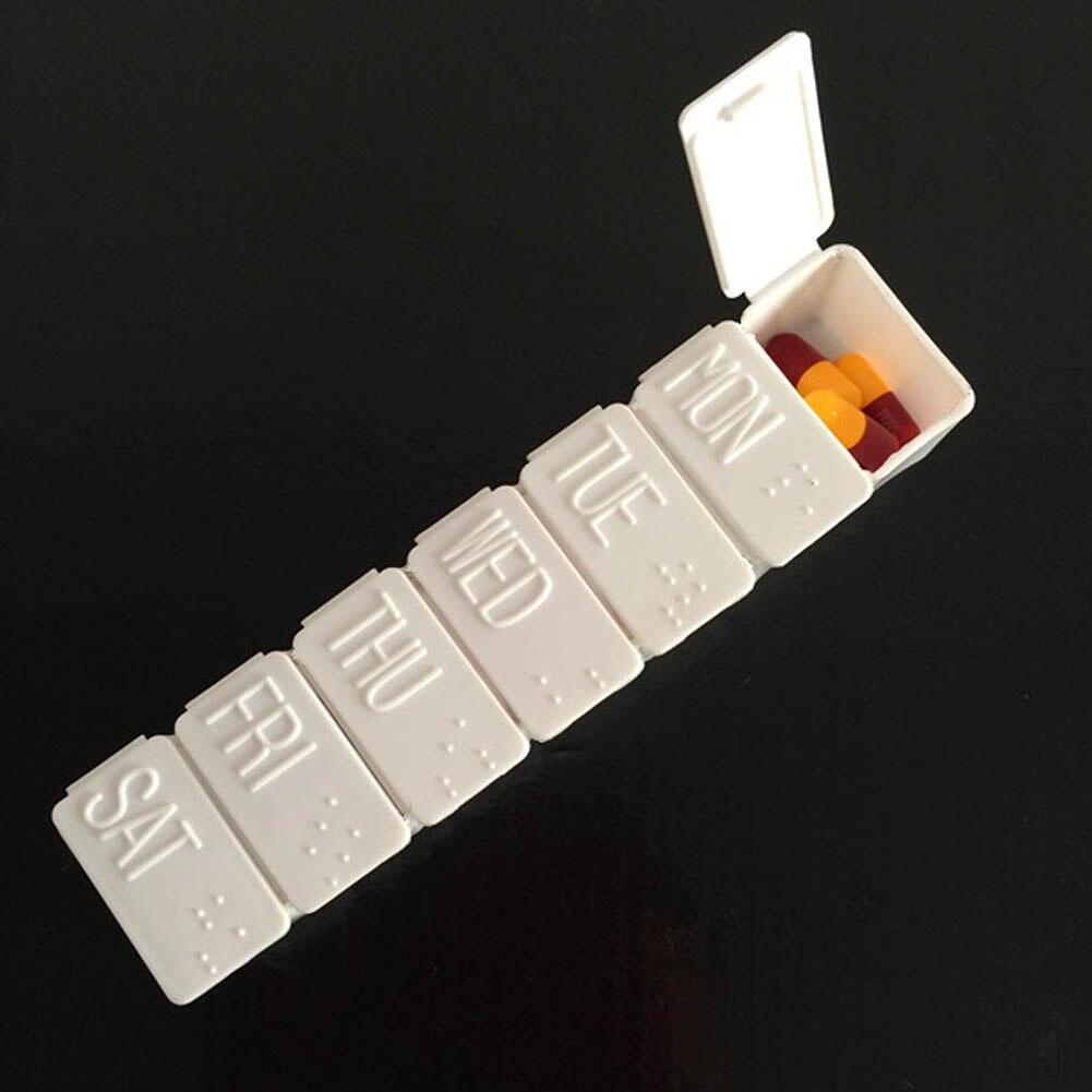 1 шт. Медицина таблетку препарата Мини Pillbox Контейнер одну неделю 7 дней малый несъемный Пластик случае Бесплатная доставка