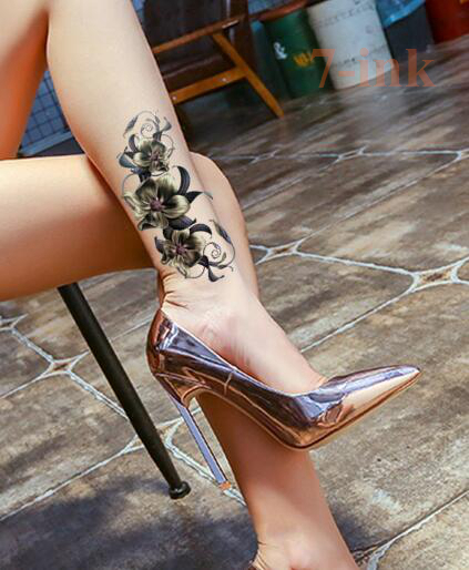 Etanche Autocollant De Tatouage Temporaire Sexy 3d Orchidee Tatoo