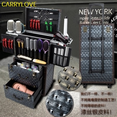 profession large volume Multifunctional cosmetic Rolling Luggage Professional hairdressing tools brand custom Suitcase profession large volume Multifunctional cosmetic Rolling Luggage Professional hairdressing tools brand custom Suitcase