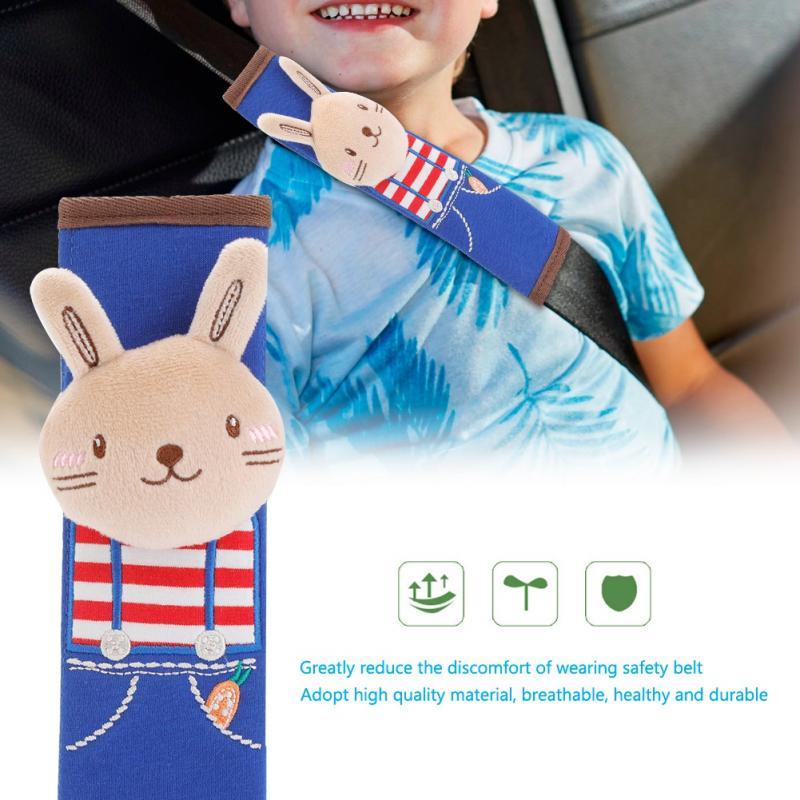 Baby Newest Lovely Cartoon Animal Car Safety Belt Cover Soft Children Protection Shoulder Pads Car Safety Seat Belt cover