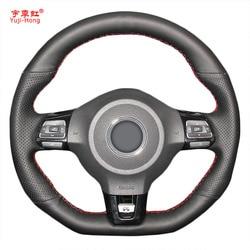Yuji-Hong Auto Volante Coperture Caso per VW Golf 6 GTI MK6 VW Polo GTI Scirocco R Passat CC R-Line 2010 In Pelle Artificiale