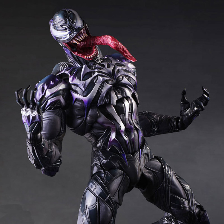 26cm Venom Spider Man Action Figure Super Hero Toy with Color Box Christmas Birthday Gift new hot 10cm spider man avengers super hero action figure toys spiderman doll christmas gift with box