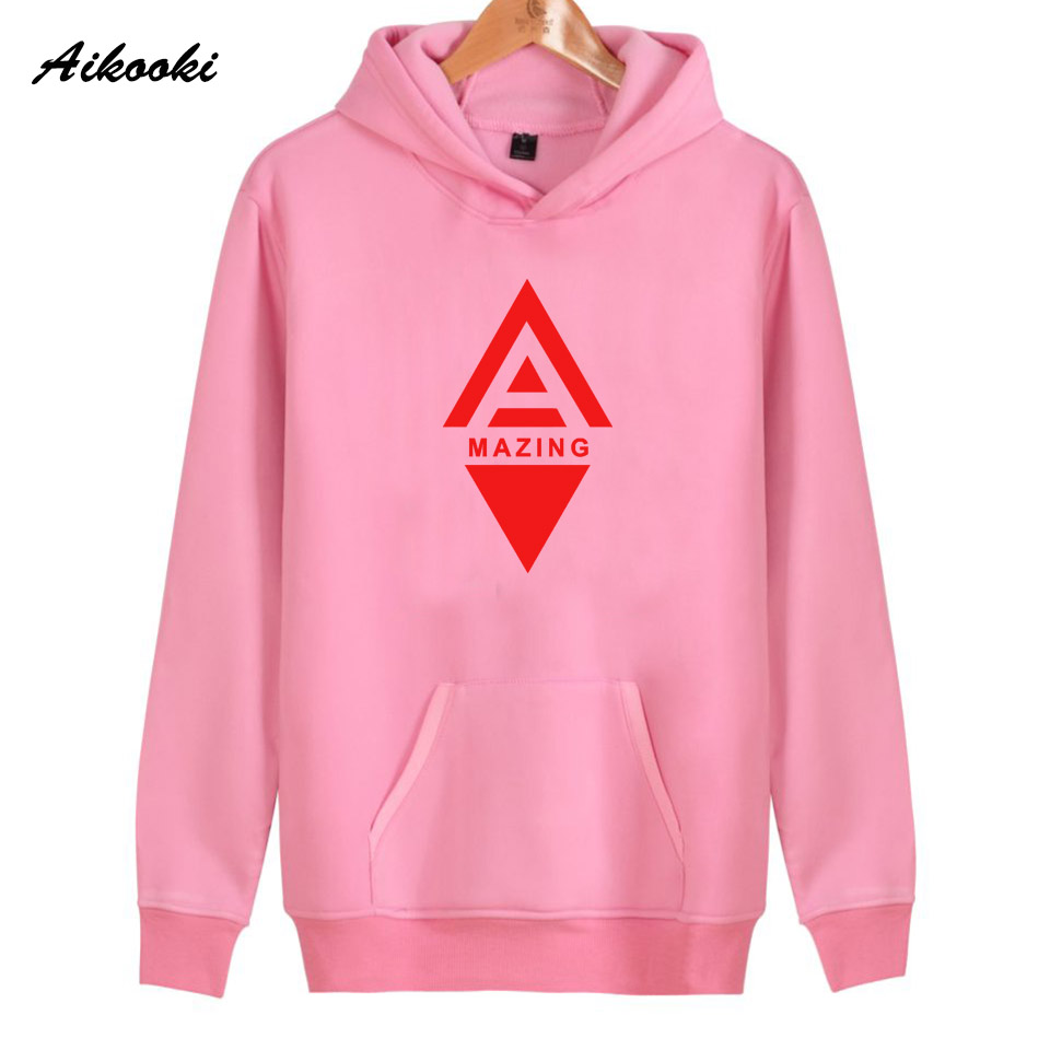 2018 High Quality Amazing Hoodies Women/Men Fashion Cotton Pink Red Amazing Womens Hoodies and Sweatshirt Warm Clothes