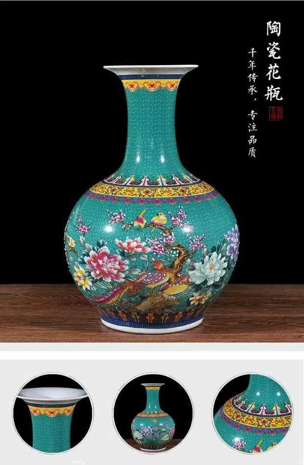 Jingdezhen ceramica Peonia vaso di cristallo smalto Nero Francese ...