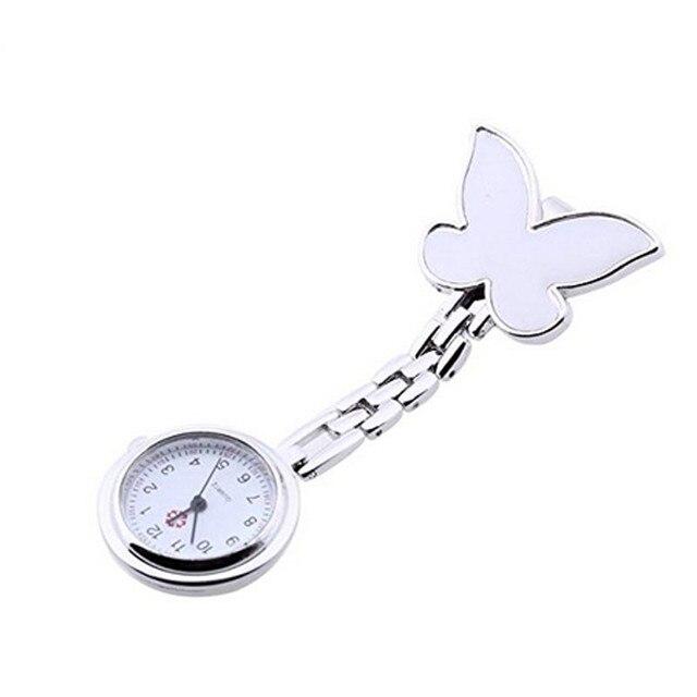 Butterfly Stainless Steel Nurse Clip-on Fob Brooch Pendant Hanging Pocket Quartz Watch clock relogio feminino mujer Hot Sale 999
