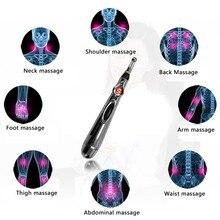 Электрическая ручка для акупунктурного массажа, обезболивающая терапия, электронный меридиан, энергетическая ручка, массаж тела, головы, шеи, ног