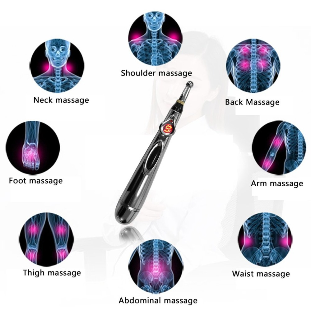 Acupuncture Point Massage Electric Pen Pain Relief Therapy Electronic Meridian Energy Pen Massage Body Head Neck Leg
