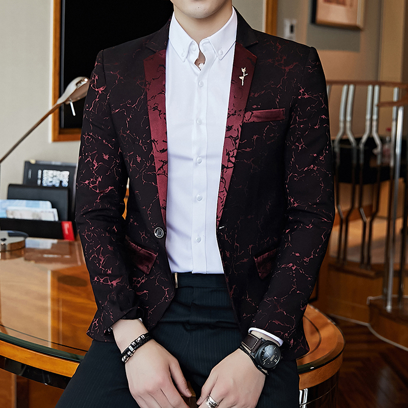 Oblique Button Blazer Jacket for Mens Casual Suit Jacket Coat for Party,Wedding,Banquet,Prom New!