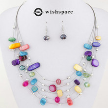 The new Europe and the United States Bohemia national wind crystal shells a hoard of multilayer necklaces  suit female
