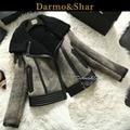 Free Shipping2015 New Sheepskin Fur Coat  Women Winter Overcoat Short paragraph Merino wool Boutique Show section