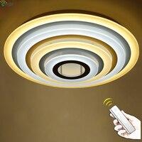 Современные Простые круглые кольца светодиодный потолочный светильник, люстра акриловая металлическая спальня с регулируемой яркостью св