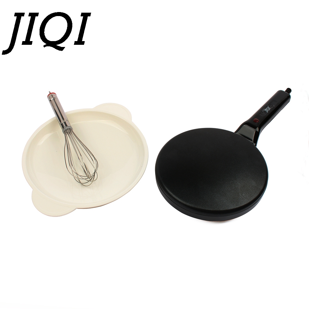 JIQI Electric Crepe Maker Pizza Machine Pancake Machine baking pan Cake machine Non-stick Griddle kitchen cooking tools 900w EU dsp electric pizza machine pancake machine baking pan cake machine crepe maker griddle kitchen cooking tool kc1069