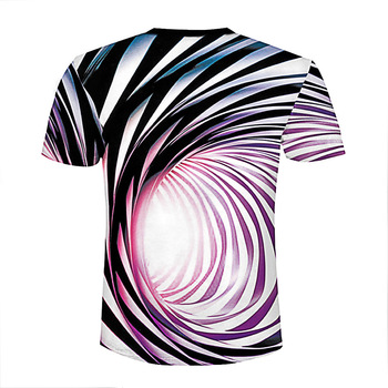 2019 Newest Summer Style Fashion Print Short sleeved Tees Men Black And White Vertigo Hypnotic colorful.jpg 350x350 - Awesome Gift Funny