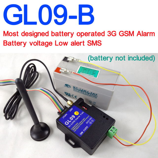 battery operated gl09 b 3g gsm alarm system sms alert wireless alarm home  and industrial burglar security alarm-in alarm system kits from security