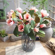 Kwiat sztuczne kwiaty sztuczne rośliny sztuczne kwiaty liść Magnolia kwiaty na ślub bukiet dekoracje na domowe przyjęcie małe kwiaty tanie tanio ISHOWTIENDA Rose Wedding Floral Decor Orchidea Kwiat Oddział Nowy rok Z tworzywa sztucznego Magnolia Floral Wedding Bouquet