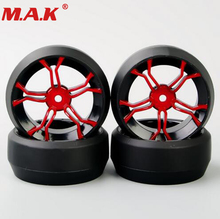 4pcs/set rubber rally accessories tires&drift wheel 6mm offset 12mm hex fit for HSP HPI RC 1:10 drift racing car 6mm 12mm hex car parts offset rc drift tires tyre wheel rims 4pcs set dhg pp0370 fit for hpi hsp 1 10 drift racing car truck