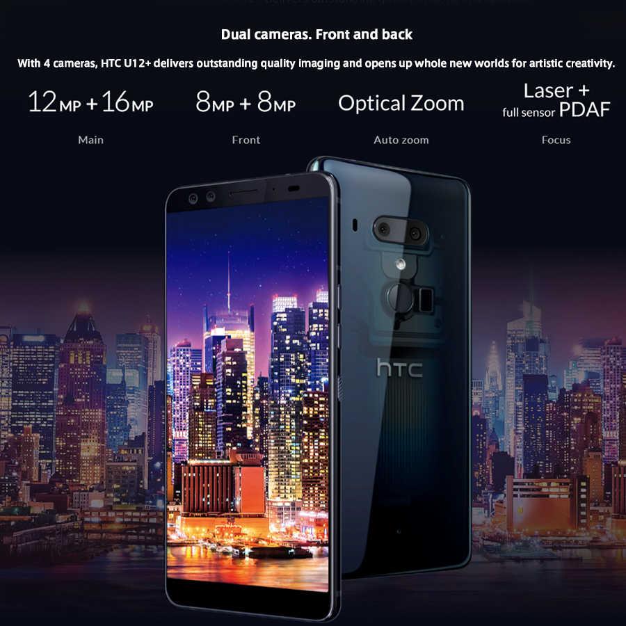 Новый список htc U12 Plus 4G LTE мобильный телефон 6 ГБ 128 ГБ Android 8,0 Восьмиядерный процессор Snapdragon 845 6,0 дюйма 2K экран IP68 смартфон